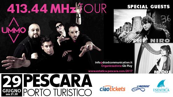 UMMO 413.44 Mhz Tour con la partecipazione straordinaria di The Niro e MICOL ARPA