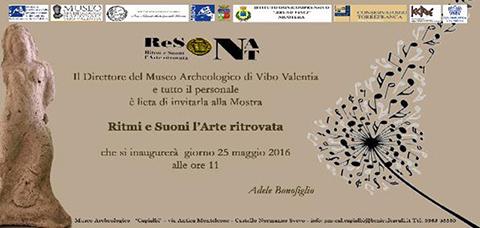Vibo Valentia: mostra archeologica ReSÒNAnT Ritmi e Suoni: l'Arte ritrovata