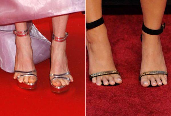 Difetti celebri: star dai piedi brutti