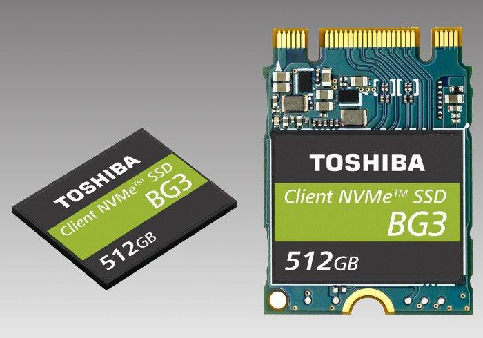 I nuovi SSD Toshiba della serie BG3 in formato ultra-compatto per i dispositivi mobili e per l'IoT