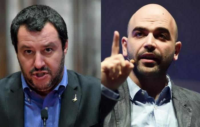 Incontro Saviano-Macron, Salvini: 'Spero non facciano selfie svestiti'. E Le Pen ride