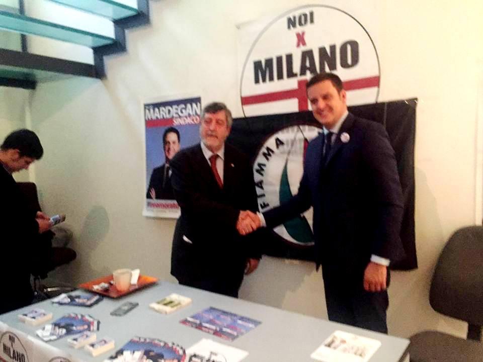 Il Movimento Sociale FT appoggia la candidatura a Sindaco di Milano di N. Mardegan