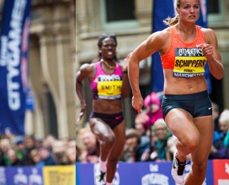Dafne Schippers vince i 100 metri a Manchester nei Great CityGames
