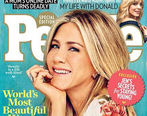 Jennifer Aniston è la donna più bella al mondo per People