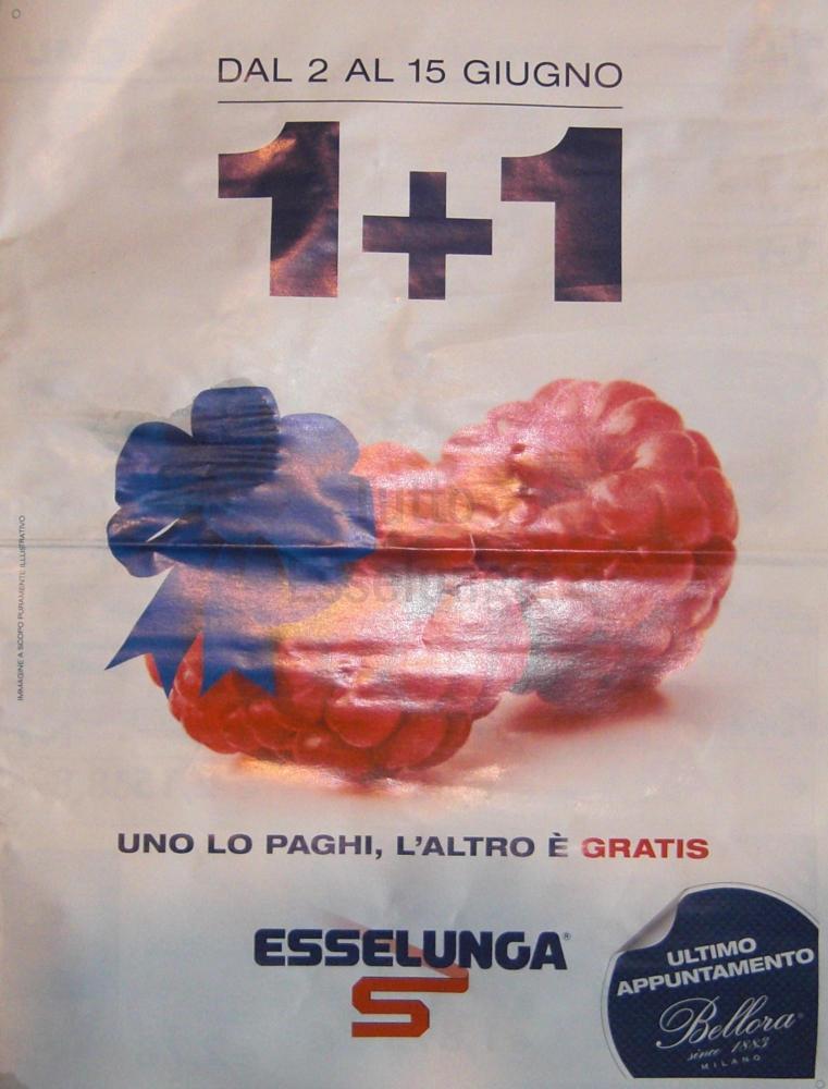 Promozione 1+1 nel nuovo volantino Esselunga del 2 giugno 2016!