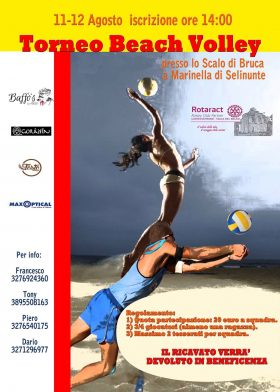 A Marinella, il Torneo di Beach Volley del club Rotaract