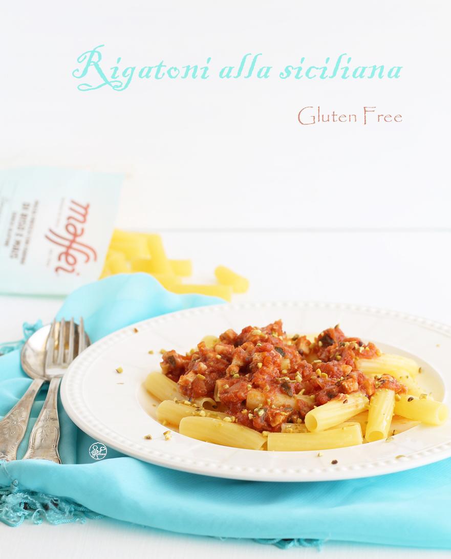 Rigatonis à la sicilienne sans gluten