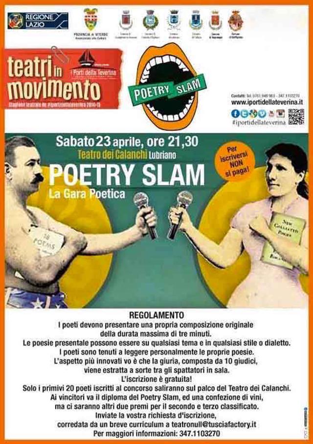 Ci siamo: arriva il Poetry Slam a Lubriano!
