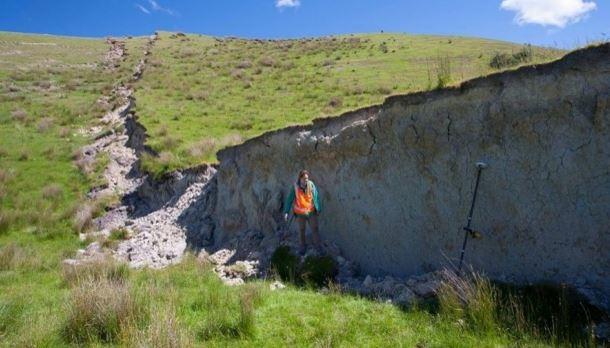 Questa muraglia è stata creata dal terremoto della Nuova Zelanda (foto)