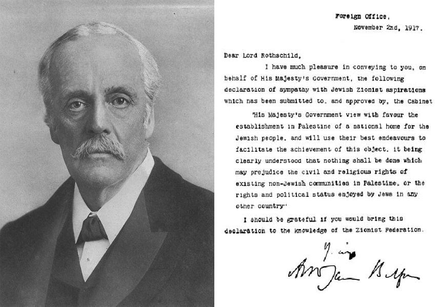 2 novembre 1917: Il governo inglese ufficializza la volontà di una colonia ebraica in Palestina