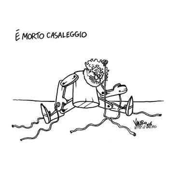 Vignetta di Vauro su Casaleggio, on n'est plus Charlie