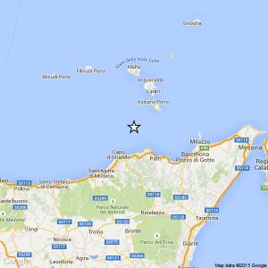 Sicilia. terremoto Ml 2.1 il 04-05-2016 ore 22:32 Costa Siciliana nord orientale