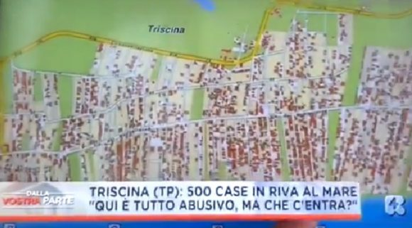 Chi è responsabile dell'abusivismo a Triscina? il VIDEO del servizio su RETE 4