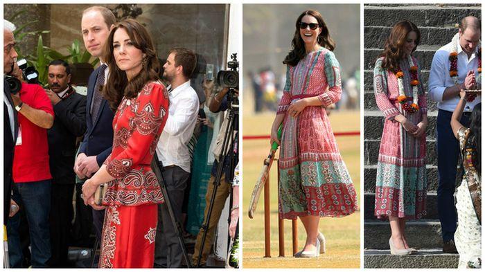 Kate Middleton: i suoi look per la visita in India non convincono