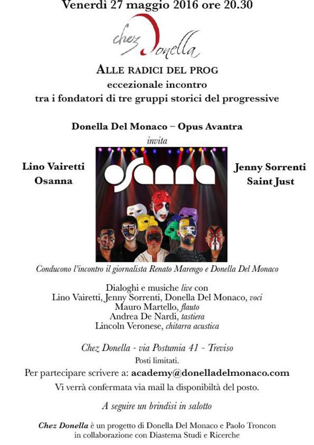 Treviso: Chez Donella alza il sipario della manifestazione Radici del Prog