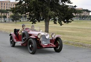 Anche l'Esercito alla Mille Miglia con una Alfa Romeo d'epoca