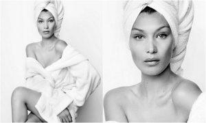 Bella Hadid diventa una Towel Girl per Mario Testino, eccola in asciugamano