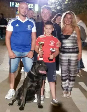 Aidone. 23esimo trofeo come primo classificato migliore di razza: Aaron, cane corso italiano