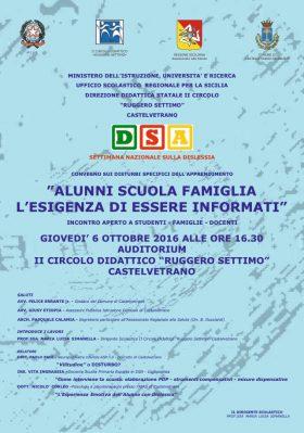 """Convegno alla """"Ruggero Settimo"""" sui DSA"""