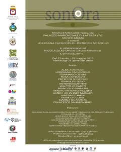 """A Laterza (TA) la mostra d'arte collettiva """"SonOra"""""""
