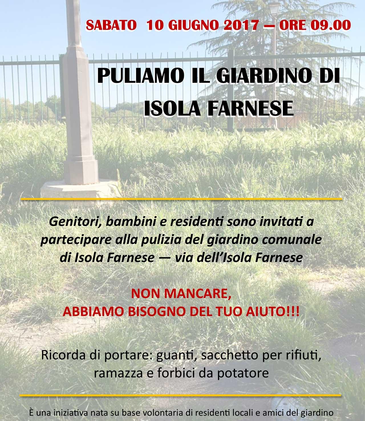 Isola Farnese chiama a raccolta i volontari