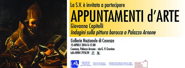 A Cosenza prosegue appuntamenti d'arte con Indagini sulla pittura barocca a Palazzo Arnone