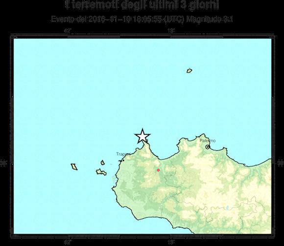 Due scosse di terremoto nel trapanese. Avvertite dalla popolazione