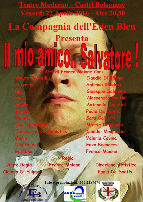 """10° compleanno """"Asso di Cuori"""": Venerdì 22 aprile commedia """"Il mio amico Salvatore"""" di Franco Maione"""