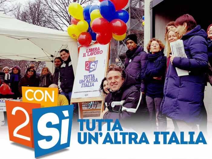 La CGIL in piazza per chiedere al governo Gentiloni di fissare la data del voto per i referendum sul lavoro