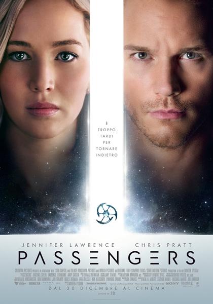 Recensione del film PASSENGERS con Jennifer Lawrence e Chris Pratt persi nello spazio