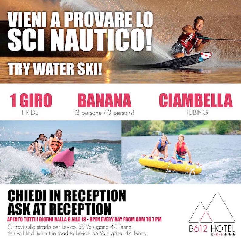 B612 Hotel Levico Terme: sci nautico, rafting, parapendio… oppure relax?