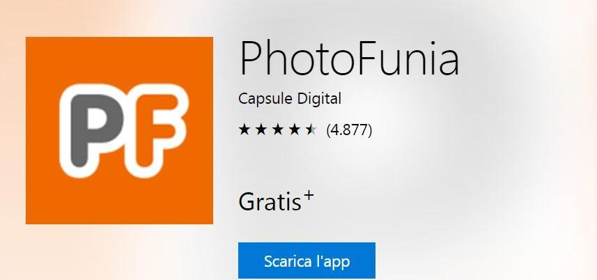 Download PhotoFunia app più votata per dispositivi windows 10 mobile e pc