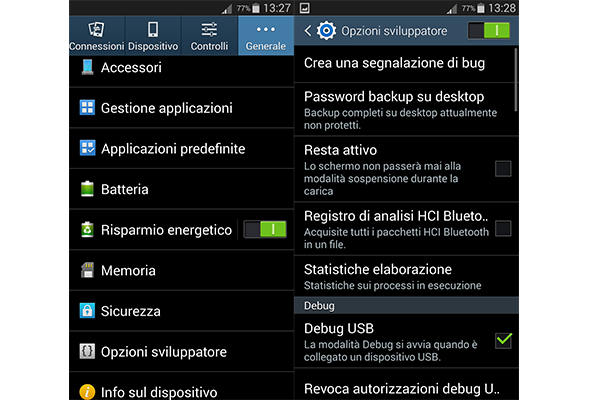 Come attivare la modalità sviluppatore sul Galaxy J5